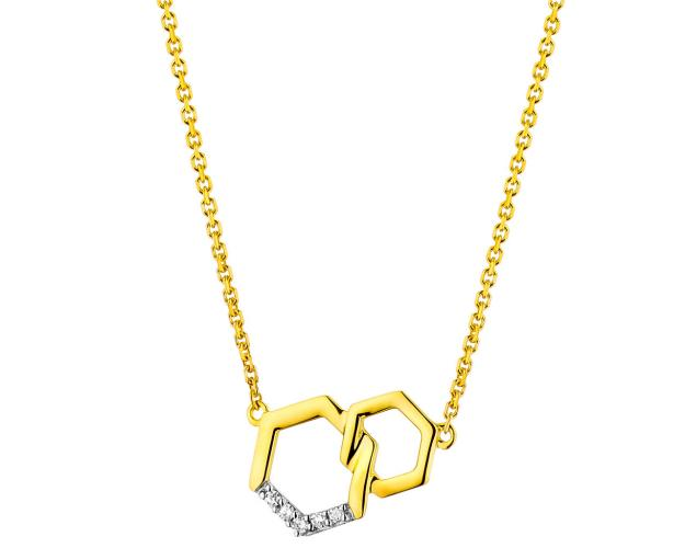 Collar de Oro Amarillo con Diamantees