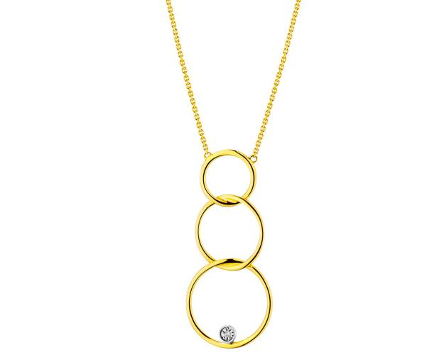 14ct Yellow Gold, White Gold Necklace with Diamond