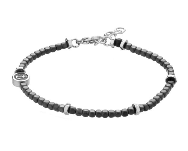 Stainless Steel Bracelet with Hematite
