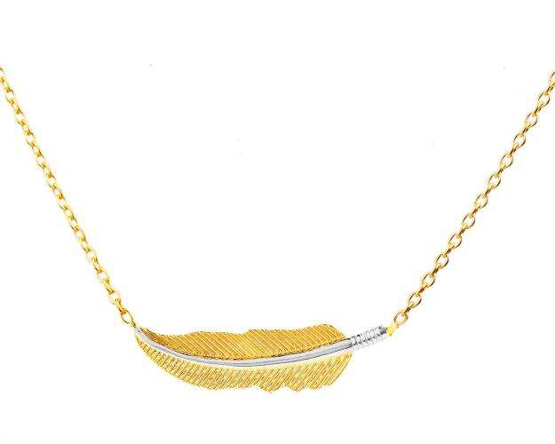 8ct Rhodium-Plated Yellow Gold Necklace