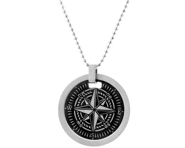 STAINLESS STEEL COMPASS NECKLACE FOR MEN