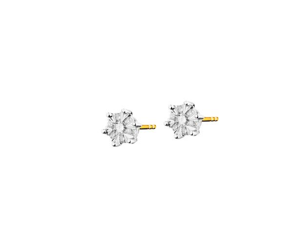 14ct Yellow Gold, White Gold Earrings with Diamonds