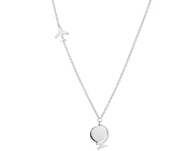 Rhodium Plated Silver Necklace