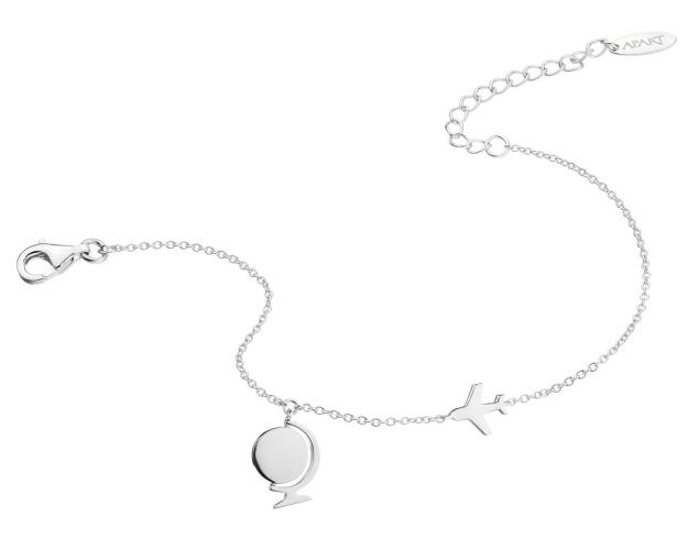 Rhodium Plated Silver Bracelet