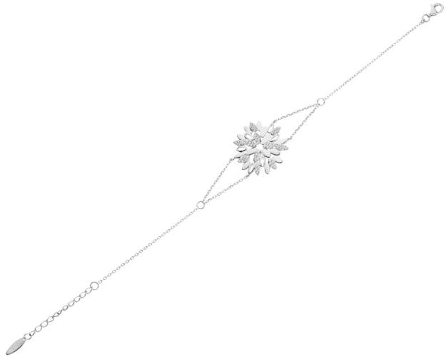 Sterling Silver Bracelet with Cubic Zirconia - Snowflake