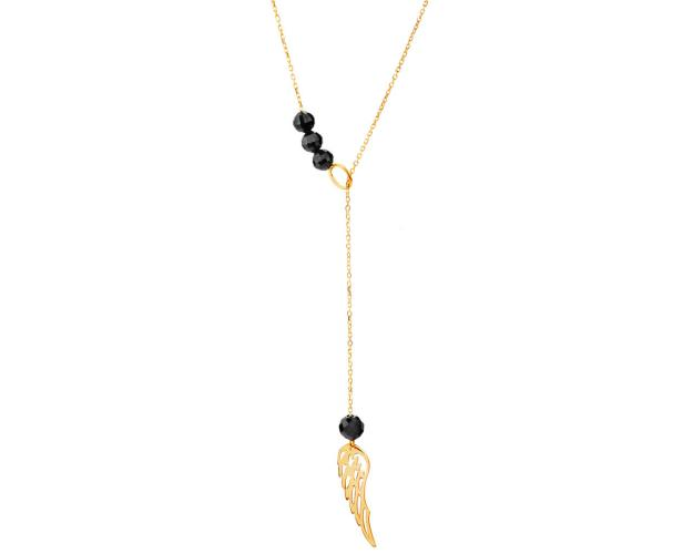Yellow Gold necklace - Wing