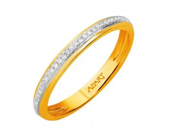 14ct Yellow Gold Ring with Diamonds