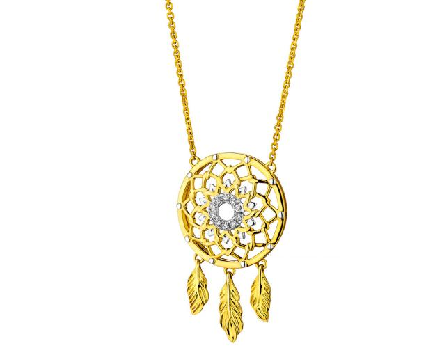 Collar de oro amarillo con diamantes