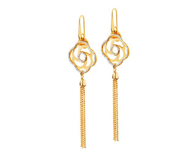 Rhodium-Plated Bronze, Gold-Plated Bronze Earrings