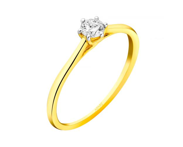 Anillo de Oro Amarillo con Diamante