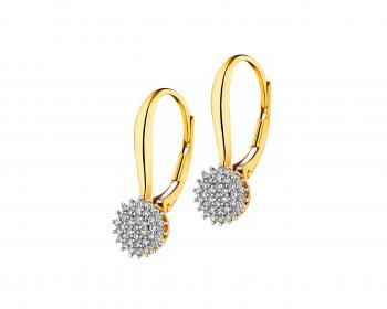 14ct Yellow Gold Earrings with Diamonds
