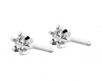 White gold earrings with brilliants