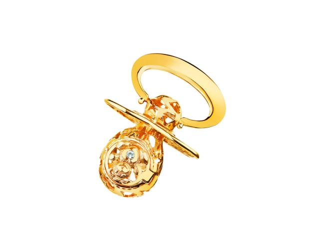 8ct Yellow Gold Celebration Soother with Cubic Zirconia