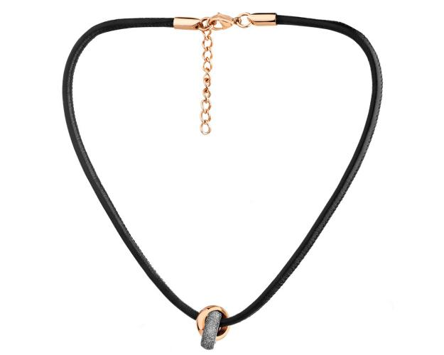 Stainless Steel, Leather Necklace