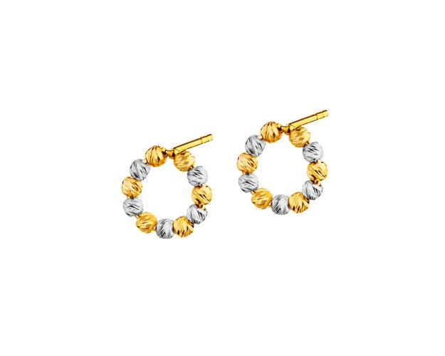 14ct Yellow Gold, White Gold, Pink Gold Earrings