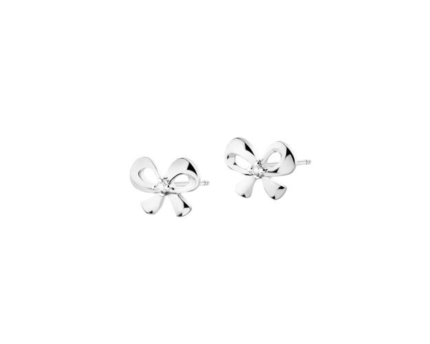 9ct White Gold Earrings with Diamonds