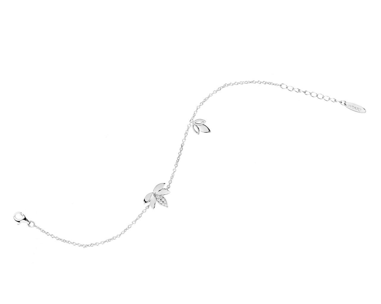 armband aus silber mit zirkoniasteinen artelioni. Black Bedroom Furniture Sets. Home Design Ideas