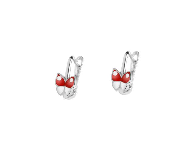 Rhodium Plated Silver Earrings