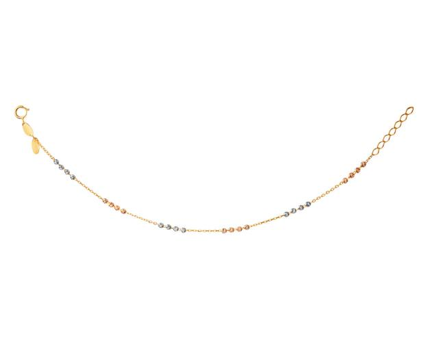 14ct Yellow Gold, White Gold, Pink Gold Bracelet