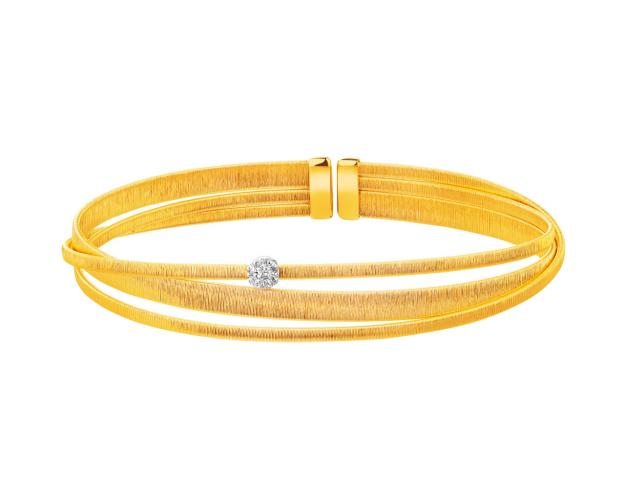 14ct Yellow Gold, White Gold Bracelet with Cubic Zirconia