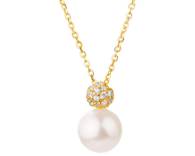 8ct Yellow Gold Necklace with Pearl