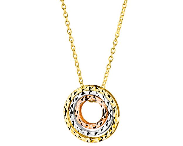 8ct Yellow Gold, White Gold, Pink Gold Necklace