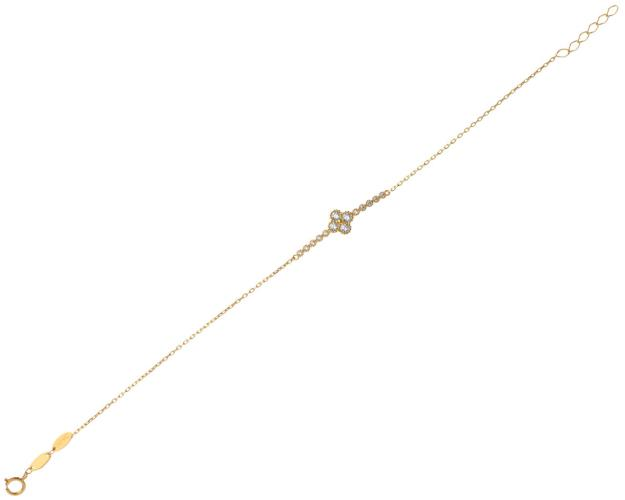 8ct Yellow Gold Bracelet with Cubic Zirconia