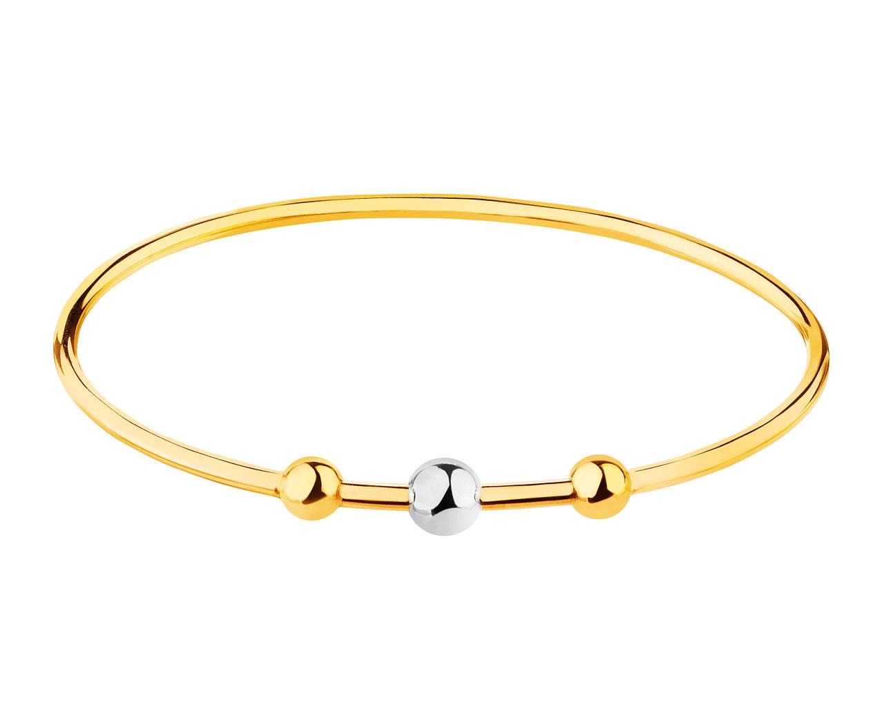 14ct Yellow Gold, White Gold Bracelet