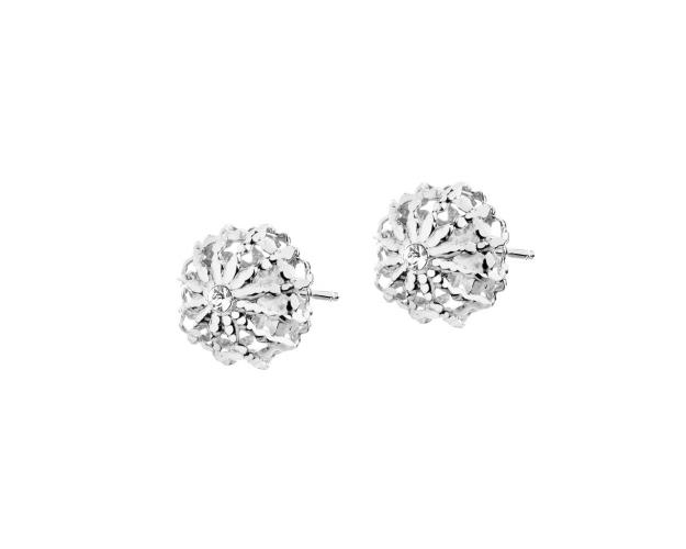 9ct White Gold Earrings with Cubic Zirconia