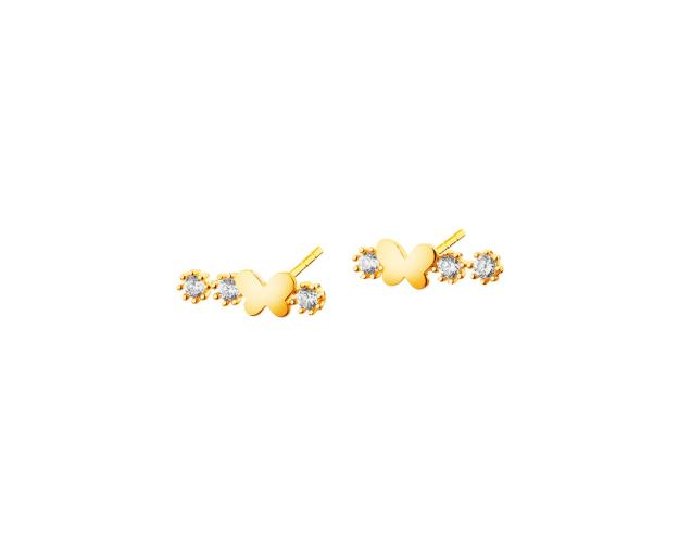 9ct Yellow Gold Earrings with Cubic Zirconia