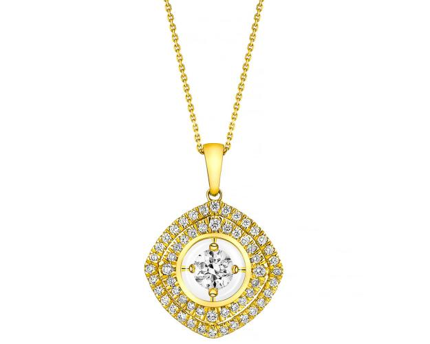 14ct Yellow Gold Pendant with Diamonds
