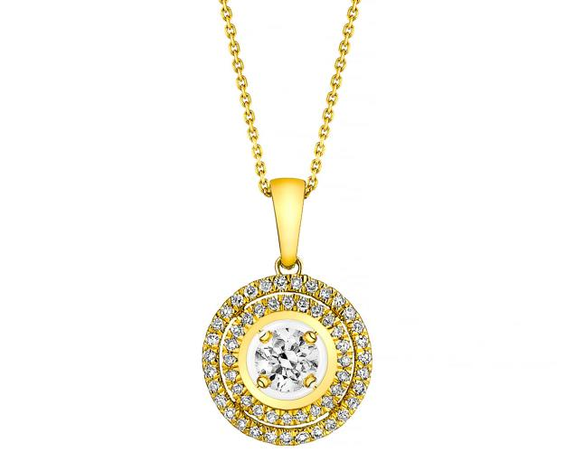 Colgante de Oro Amarillo con Diamantees