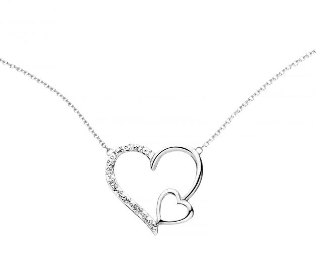 9ct White Gold Necklace with Diamonds