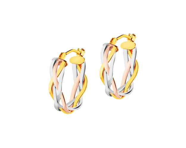 14ct Tricolor Earrings