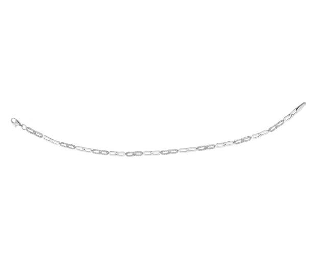 14ct White Gold Bracelet with Cubic Zirconia