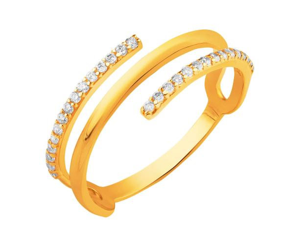 YELLOW GOLD RING WITH ZIRCONIA
