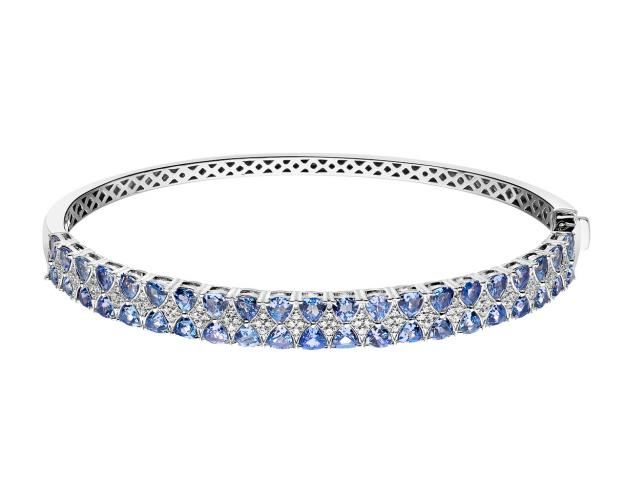 14ct White Gold Bracelet with Diamonds