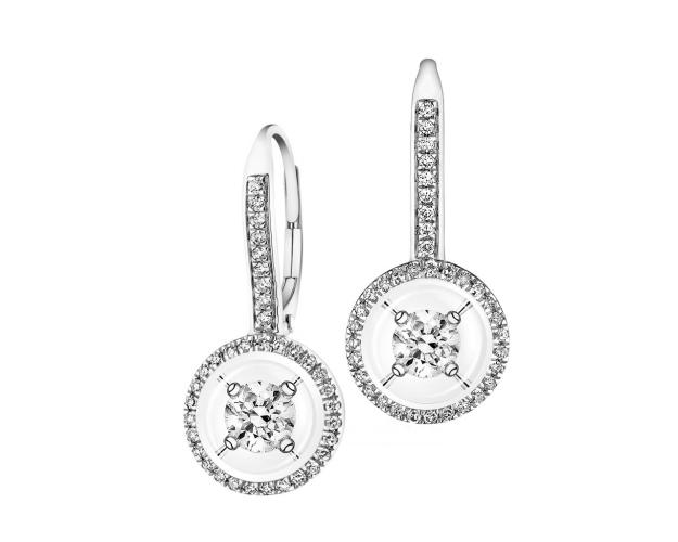 14ct White Gold Earrings with Diamonds