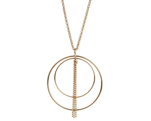 Gold Plated Bronze Necklace Champagne