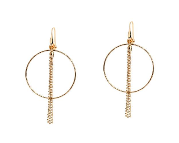 Gold Plated Bronze Earrings Champagne
