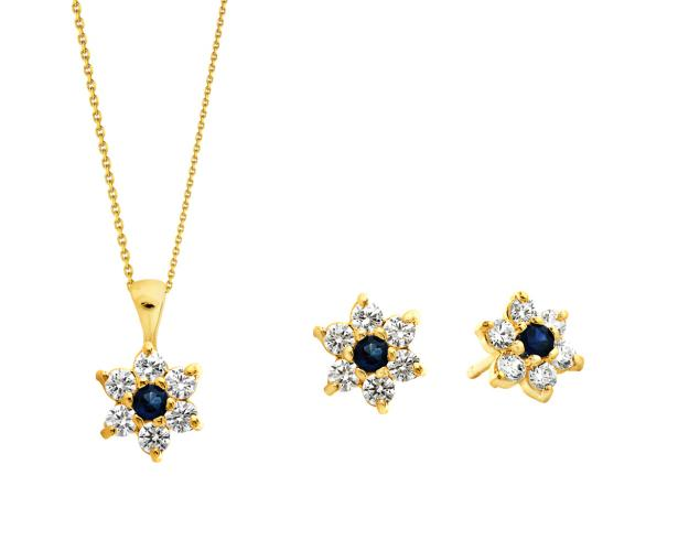 14ct Yellow Gold Set with Cubic Zirconia