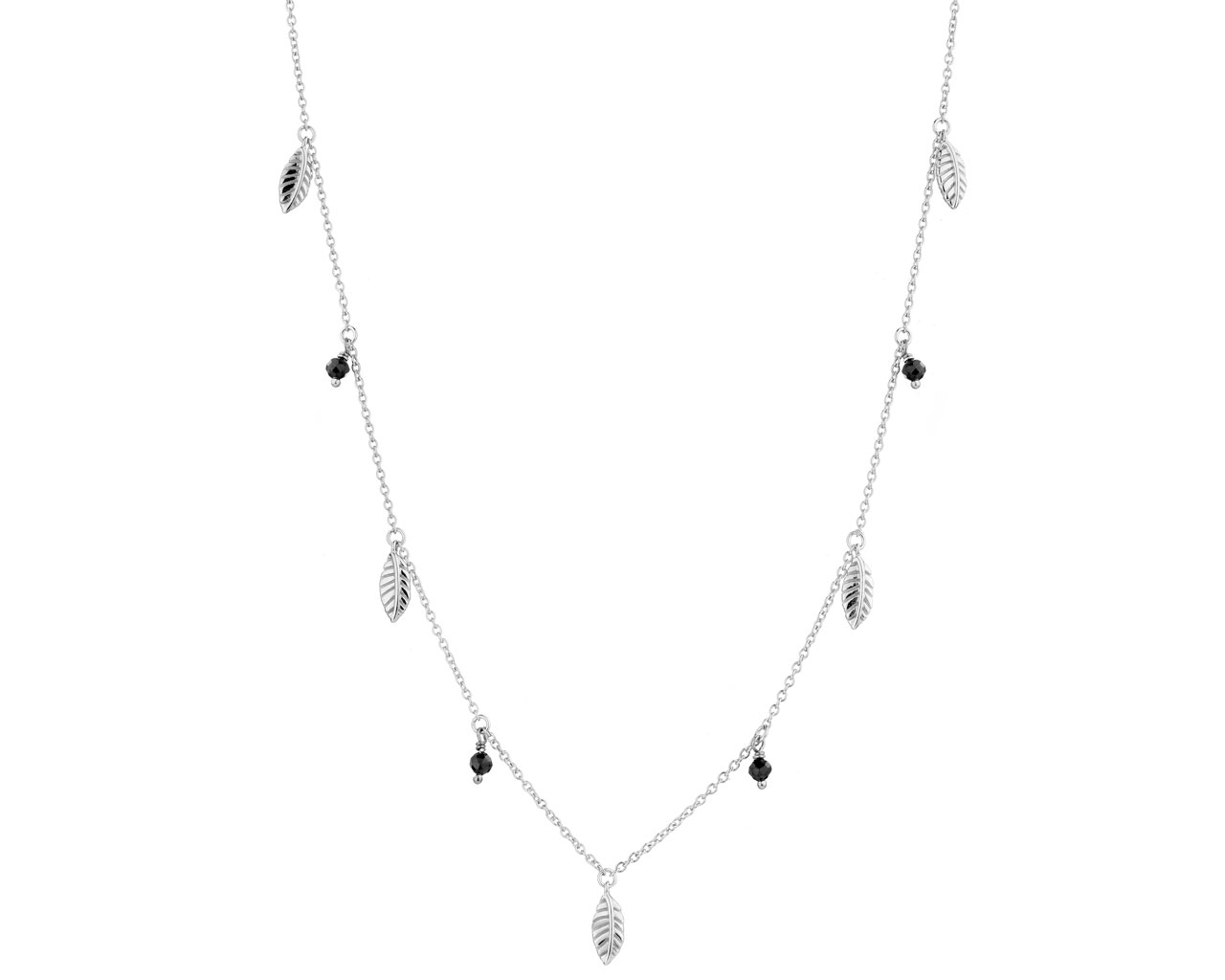 03796039608ba1 Rhodium Plated Silver Necklace with Cubic Zirconia / Artelioni