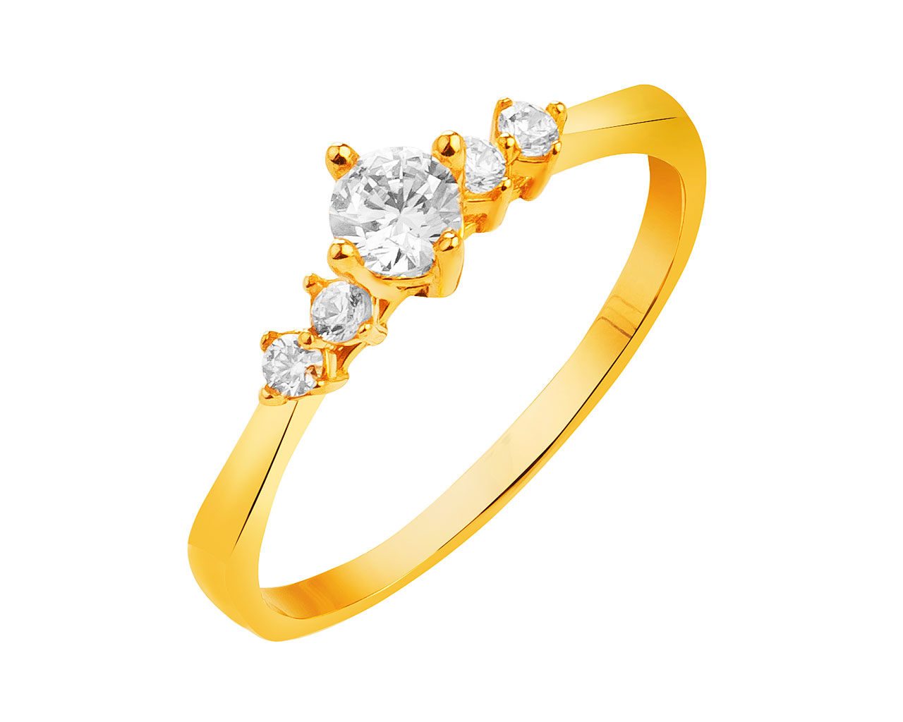 With 8ct Zirconia Gold Ring Cubic Yellow qMGVzLSUp