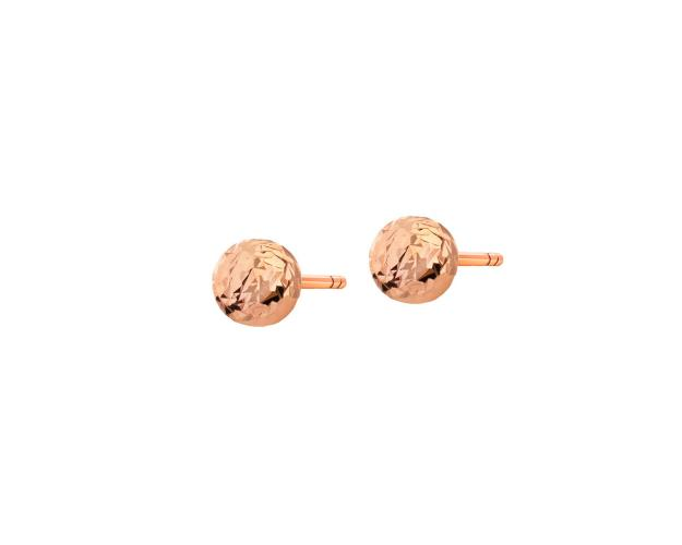14ct Pink Gold Earrings