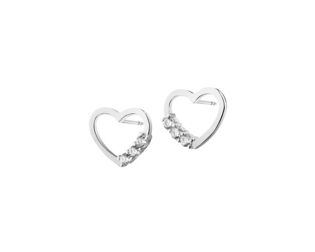 8ct White Gold Earrings with Cubic Zirconia