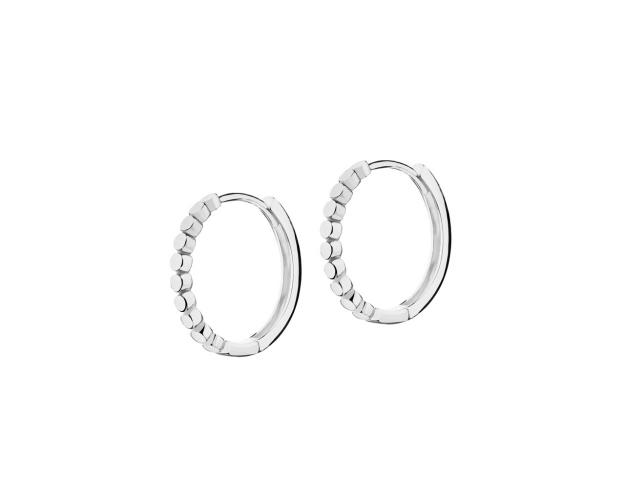 14ct White Gold Earrings