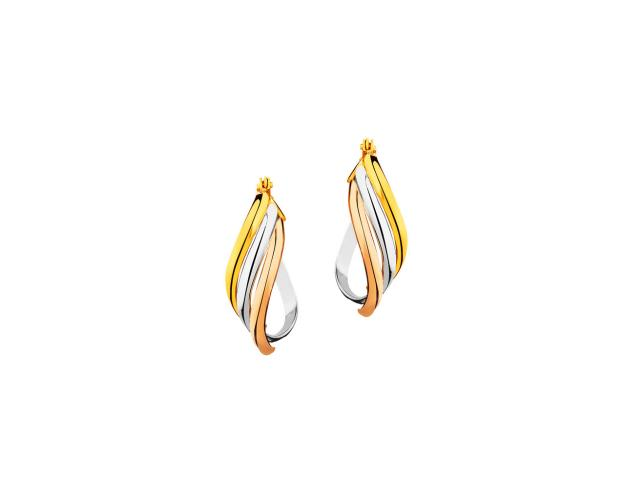 8ct Tricolor Earrings