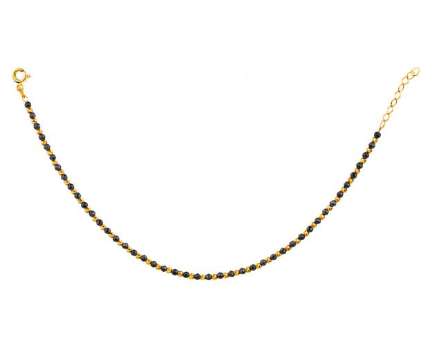 14ct Yellow Gold Bracelet with Onyx