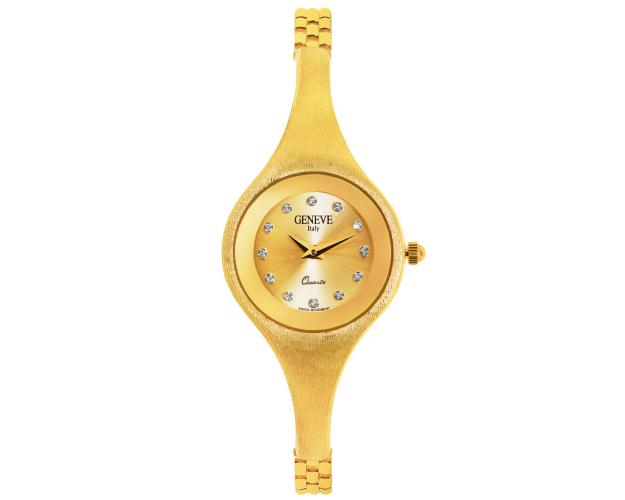 14ct Yellow Gold Watch with Cubic Zirconia