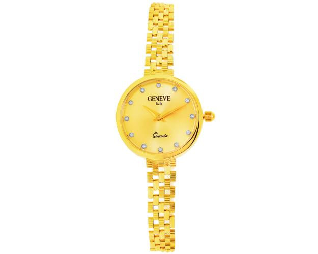 14ct Yellow Gold Gold-Watch with Cubic Zirconia